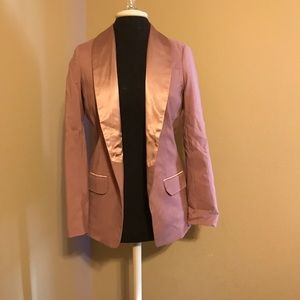 ASOS Pink blazer and satin trim